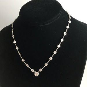 Solitaire Station Necklace